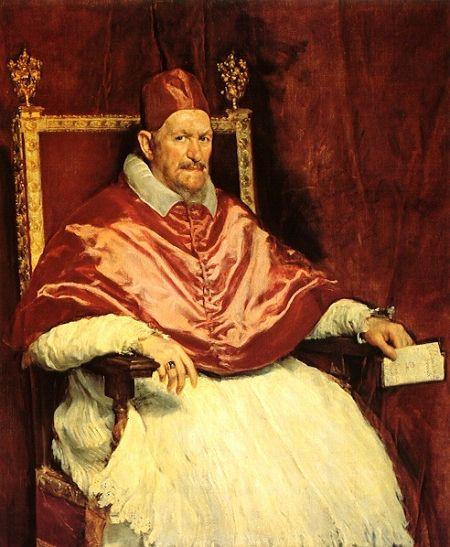 Velázquez -Retrato del papa Inocencio X, 1650.