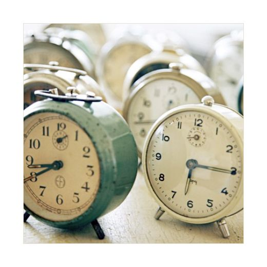 some like these vintage alarm clocks would be a great addition to any table decor at a round the clock shower
