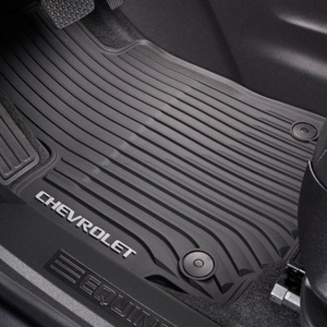 Premium All Weather Front Floor Mats In Jet Black With Chevrolet