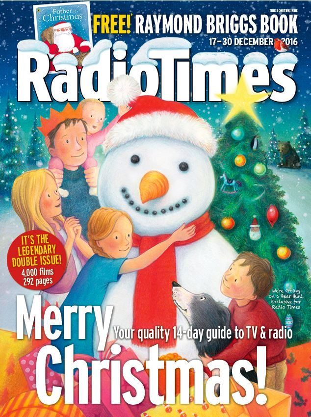 It wouldn't be Christmas without the Radio Times! Your quality 14 day guide to Christmas TV and Radio    The legendary double issue with 292 pages, covering 4000 films, plus get your free Raymond Briggs book (Terms and Conditions apply)    Copies will dispatch from Tuesday December 6th