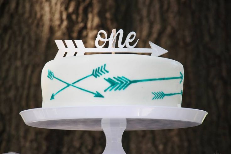 One Arrow Cake Topper  www.partygramshop.com