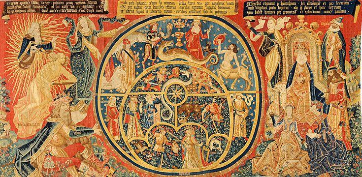 En el museo de Santa Cruz, y procedente de la catedral de Toledo, se encuentra el tapiz del Astrolabio.