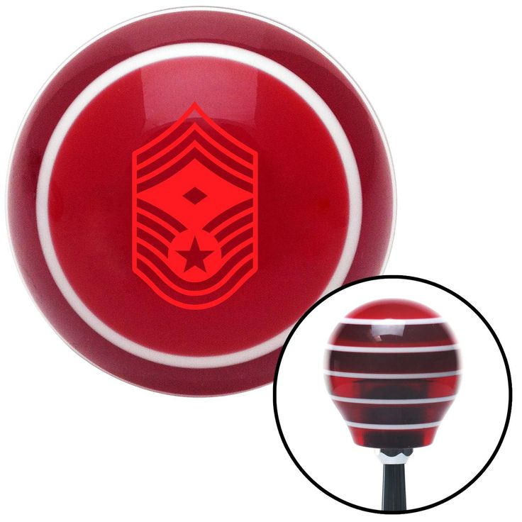 Red Chief Master Sergeant First Sergeant Red Stripe Shift Knob with M16 x 15 Insert - Give your interior the ultimate look. American Shifter's Elite(TM) series shift knobs are made from the highest quality components resulting in a superior feel on every shift. Each shift knob is designed and customized in the USA by skilled shift knob artisans who have a trained eye on every detail. American Shifters shift knobs offers an exclusive aluminum threaded insert designed to be screwed onto your…