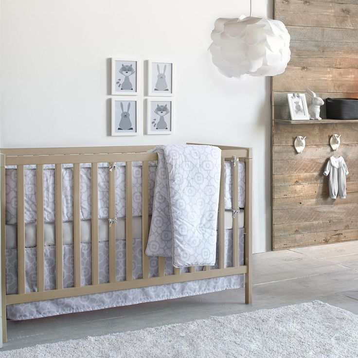 Noche Collection - 4-Piece Baby Crib Set