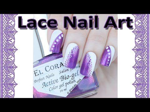 Free hand nail design / Кружевной дизайн от руки - YouTube