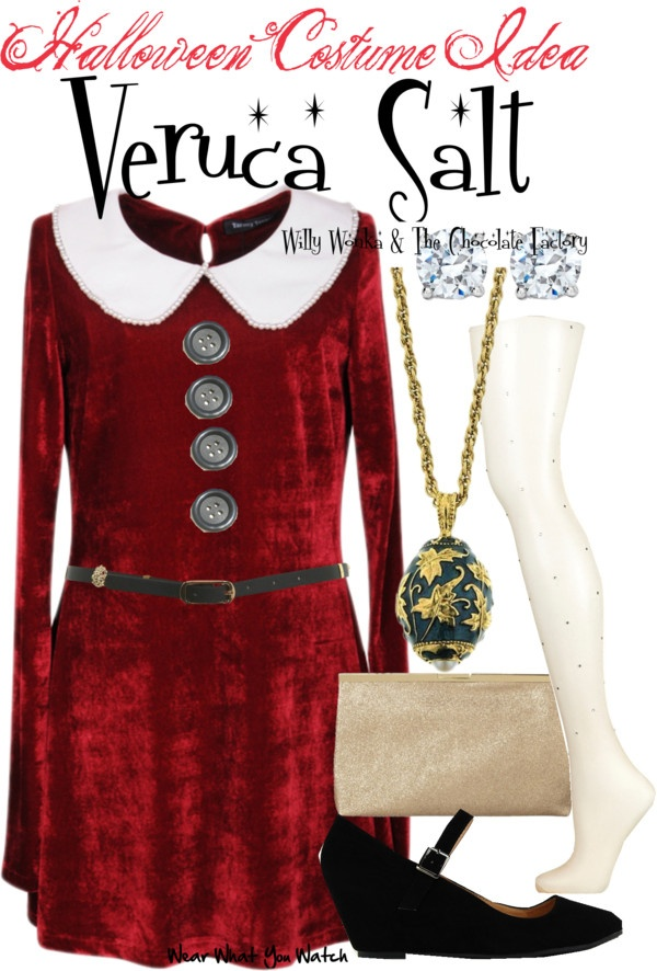 Inspired by character Veruca Salt played by Julie Dawn Cole in the 1971 musical adaptation of Willy Wonka and the Chocolate Factory.