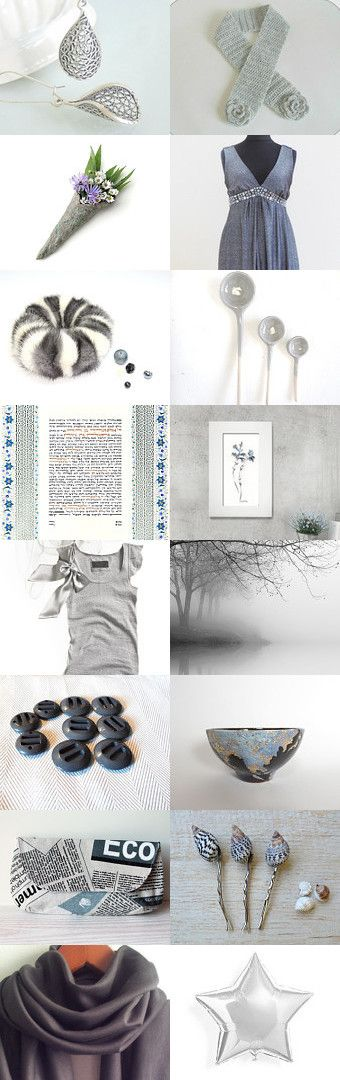 Beautiful grey finds by styledonna on Etsy--Pinned+with+TreasuryPin.com