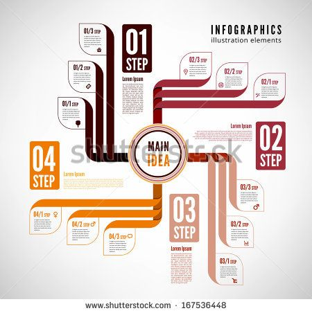 Infographics to describe the process. Easily editable file - stock vector