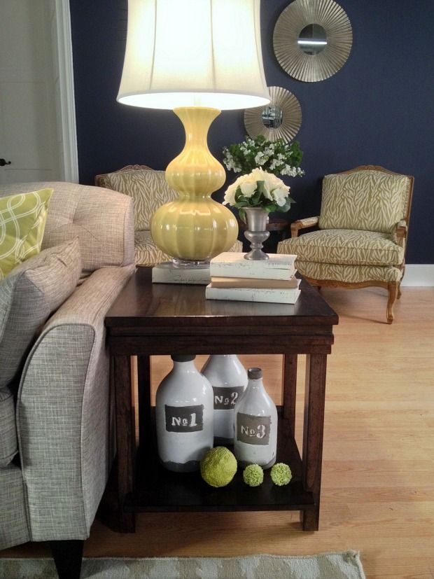 end table vignette, love the whole thing