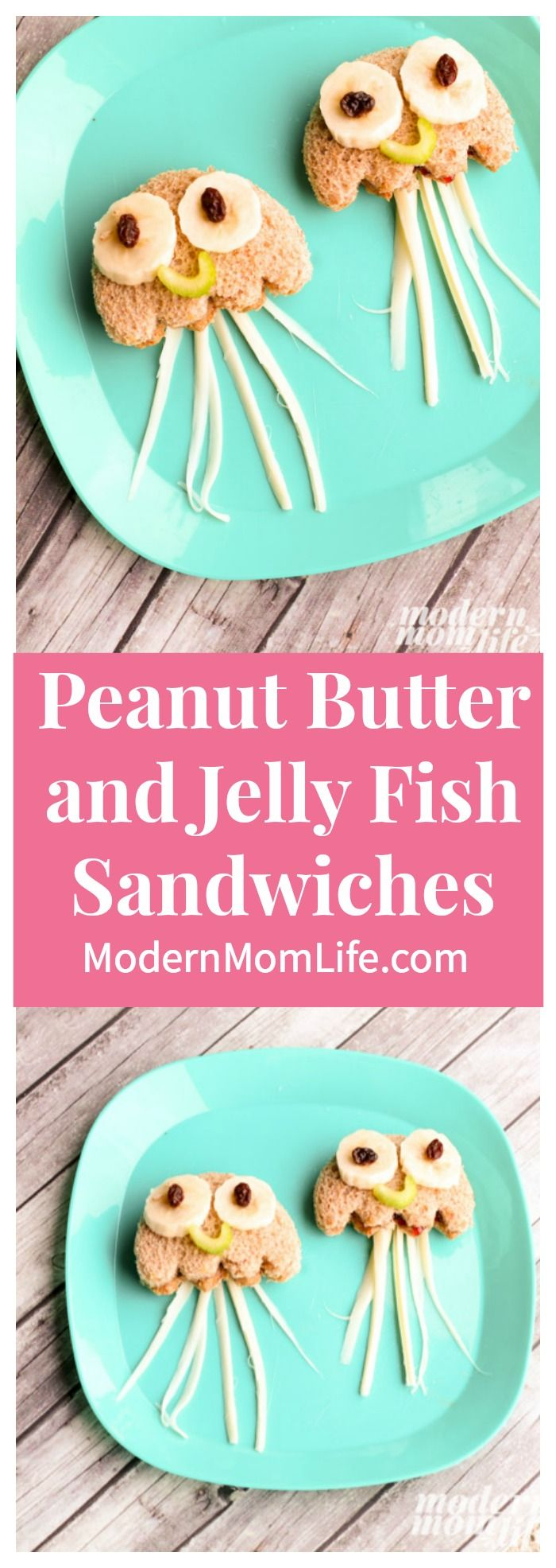 Peanut Butter & Jellyfish Sandwiches your family will love. This is a unique twist on the classic PB&J sandwich and promises to please even the pickiest eaters. Makes a great school lunch idea. #ad #FindingDory via @amodernmomlife