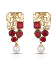 Buy Luxor Royal Red Designer Earrings Mother's Day Gift for Women ER-1281 danglers-drop online
