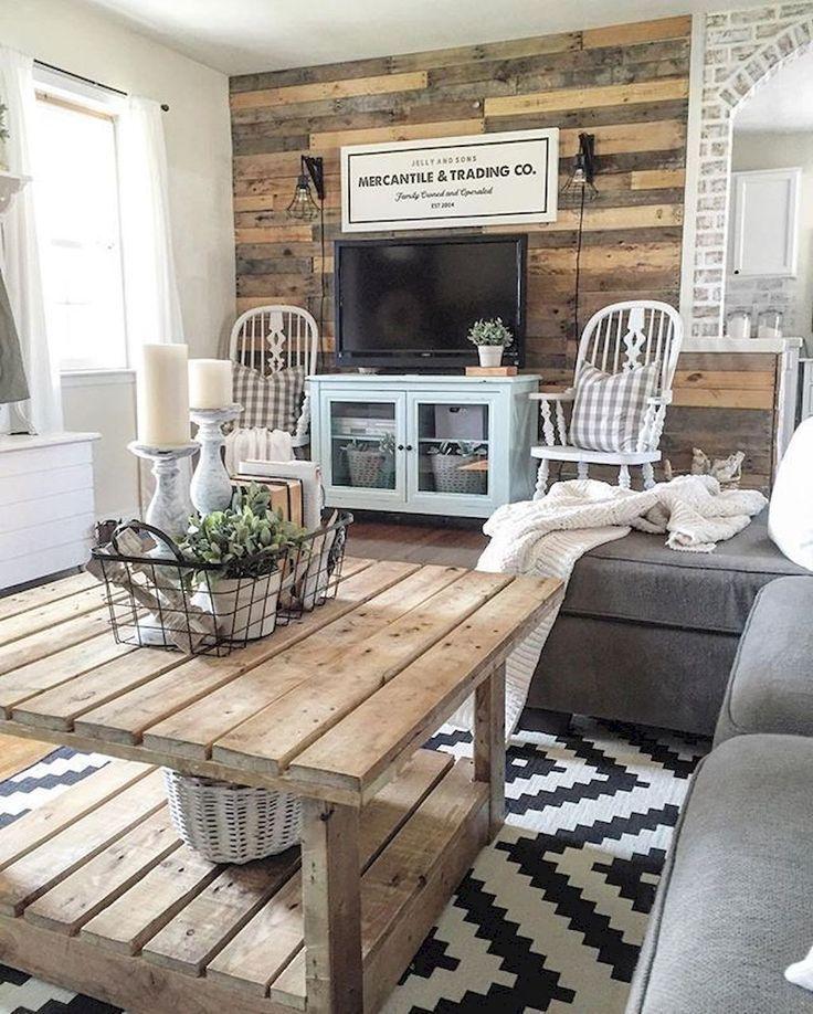 10 Modern Farmhouse Living Room Ideas: Farmhouse Style Living Room Design Ideas (23)