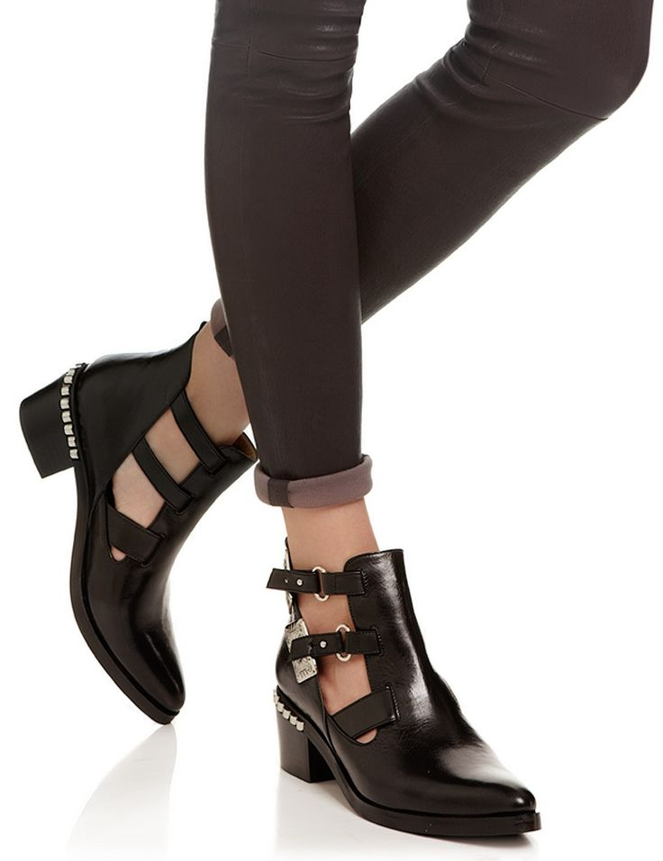 Black Heeled Cut-Out Boots Toga Archives Q1s3wIXT