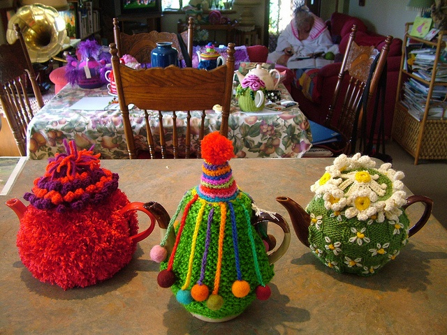 3 Tea Cosies by Mar-Ley Creations, via Flickr