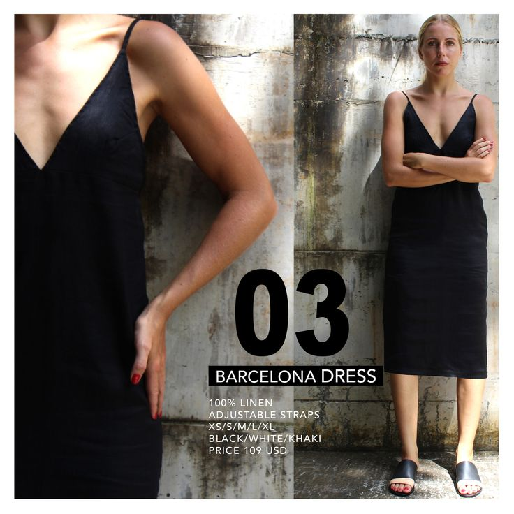 The only little black dress you will ever need! This linen dress is great for Everyday or dresses up for the evening.