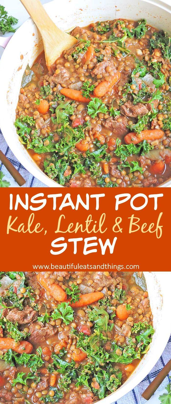 Kale Lentil and Beef Stew