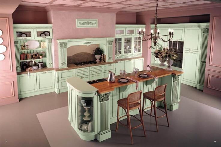 Luxusní kuchyně Tomassi Cucine, ve které si budete připadat jako zámecké kuchyni http://www.saloncardinal.com/galerie-tomassi-cucine-c8e