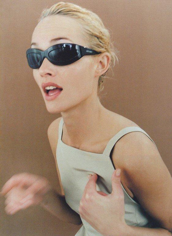 Amber Valletta by Steven Meisel - Alberta Ferretti S/S 1996