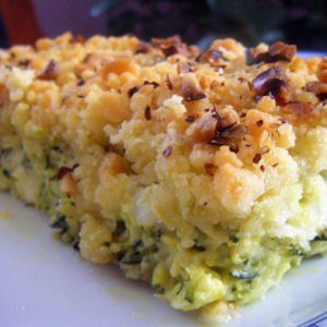 Crumble cabillaud courgette