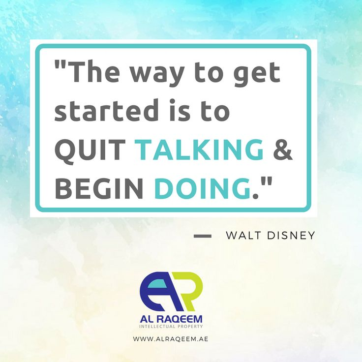 """Quotes to Inspire Success in Your Business:  """"The way to get started is to quit talking and begin doing.""""  -Walt Disney  #trademark #dubai #uae #business #lawyer #government #license #brand #name #symbols #signatures #labels #unregistered #approved #owner #setup  www.alraqeem.ae"""