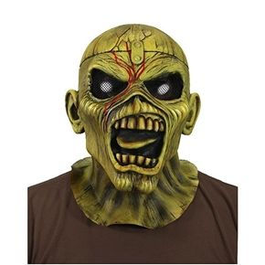 Iron Maiden Piece Of Mind Eddie Latex Mask  A fully licensed official mask of Maiden's mascot Eddie.  Based on the cover art for the classic Piece of Mind album, this highly detailed sculpt captures all the detail and expression of Eddie. Great for Halloween, your next metal concert, or for display in your home.