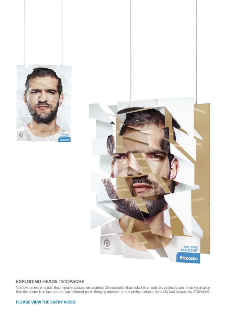 Campaign: Explosive Pain: Exploding Akbar / Advertiser: Paras Pharma / Agency: Y Dubai / Country: UAE / Creative Director: Shahir Zag & Kalpesh Patankar / Art Director: Kalpesh Patankar / Copywritter: Shahir Zag / Award: Instore Posters & Displays Sapphire