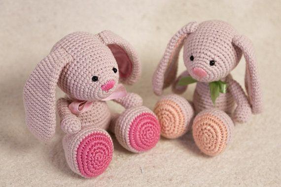 PATTERN - Amigurumi Bunny Pattern - Crochet Bunny PDF Tutorial - DIY - Instant Download - Printable - In English, in Spanish