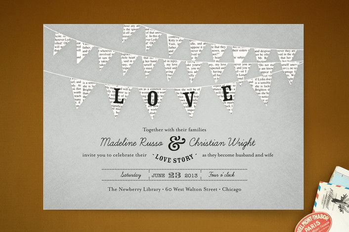 Love Story Wedding Invitations by cadence paige design at minted.com