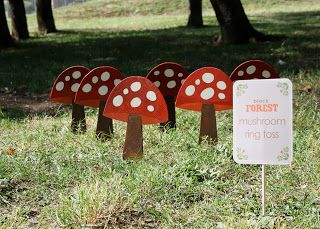 mushroom ring toss, via Jayme Marie Designs: Woodland Wonderland