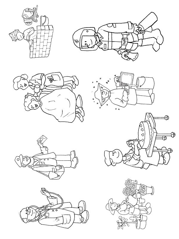 ESL occupations color sheet | Free coloring pages to print or color online