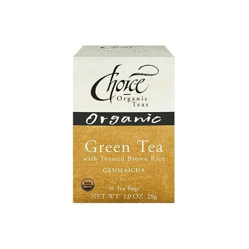 Choice Organic Teas Organic Green Tea With Toasted Brown Rice - 16 Tea Bags (Pack of 6) - Pack Of 6 V991-SPK-616227