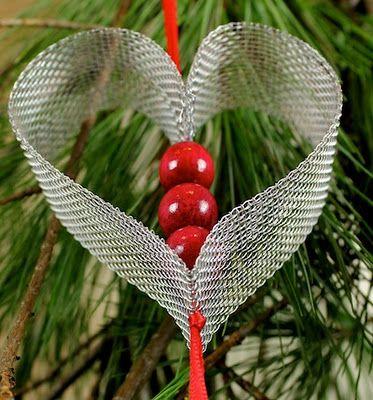 DIY ornament from aluminum window screen