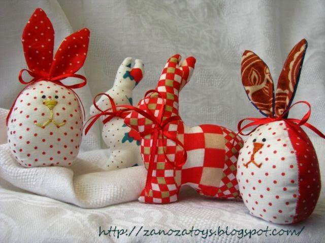 Easter eggs, bunnies DIY (Пасхальные яйца, кролики и яйца-зайцы)