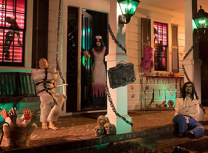 go crazy with demented decorating ideas for a haunted asylum theme - Scary Halloween Party Decoration Ideas