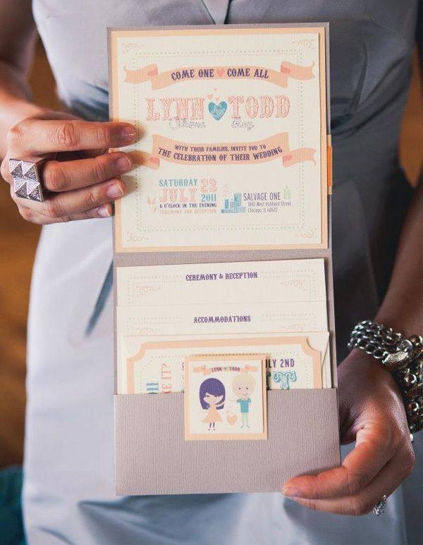 Vintage Modern Wedding Invitation + Collateral by Lauren Okura, via Behance