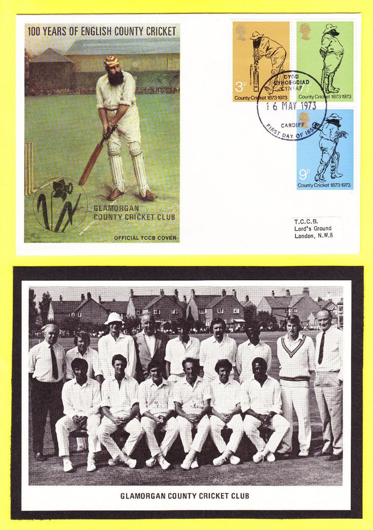 Glamorgan #county #cricket club 1973 gb stamp first day cover & team #picture pri,  View more on the LINK: http://www.zeppy.io/product/gb/2/162274917146/
