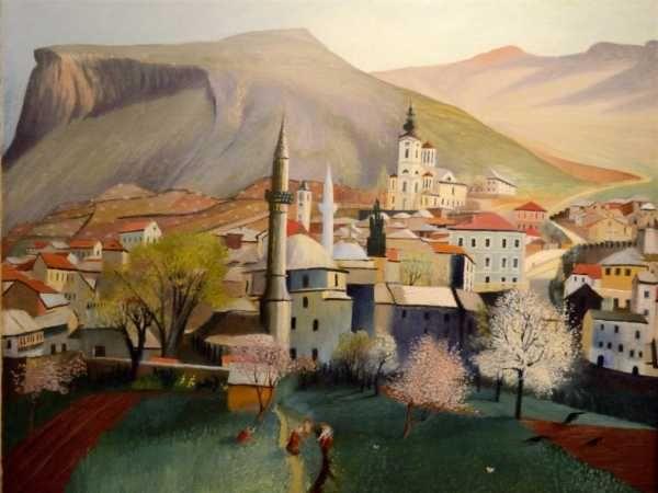 Csontváry Kosztka Tivadar: Tavasznyílás Mosztárban, 1903