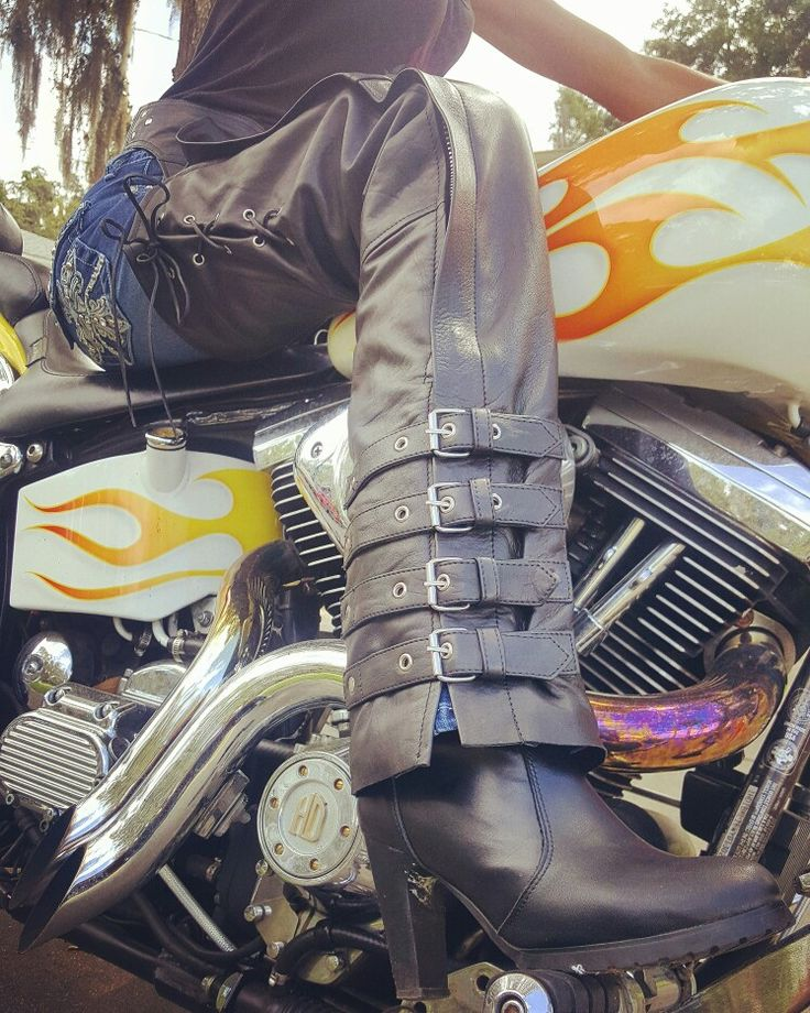New From Lone Wolf Gear Apparel Fully Lined Lambskin Leather Chaps Motorcycle