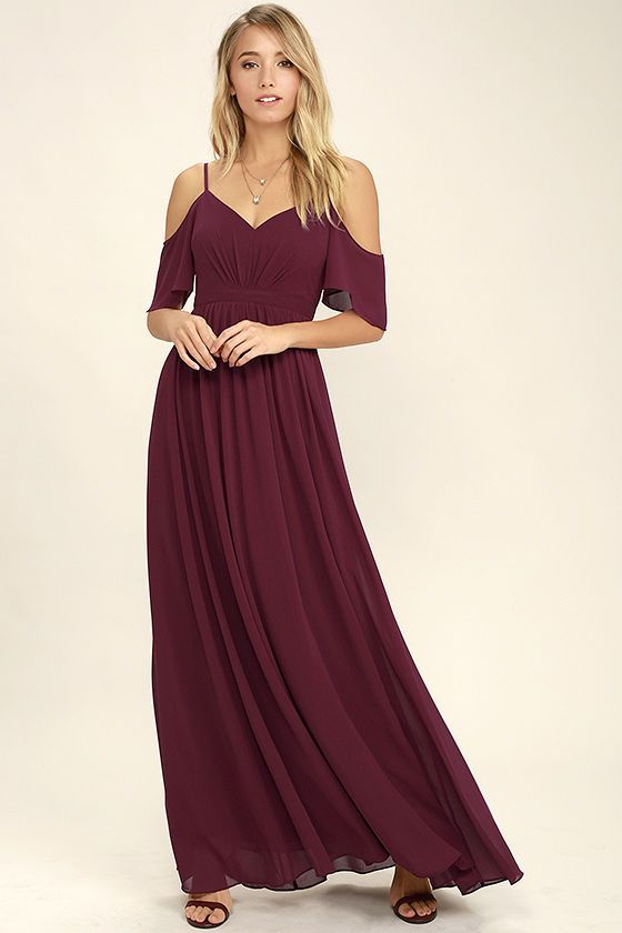 If you fancy a twirl in something spectacular, slip into the Ways of Desire Wine Red Maxi Dress! Woven poly forms a lightly pleated triangle bodice supported by spaghetti straps and fluttering sleeves. A banded waist gives way to a cascading maxi skirt. Hidden back zipper