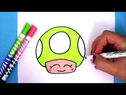 COMMENT DESSINER LE CHAMPIGNON DE MARIO KAWAII   DESSIN FACILE - YouTube