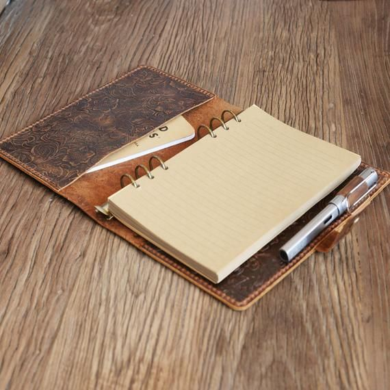 Size A5 / A6 6 Ring Leather Refillable Planner Binder