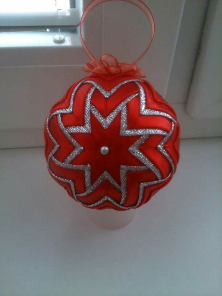 Quilted ornament/Falosny patchwork/Patchwork without needle/Christmas