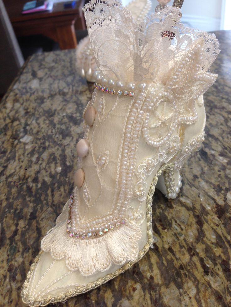 Altered pincushion shoe.