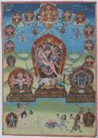 Thangka depiciting Cakrasamvara (?) Nepal, 19th - 20th Century