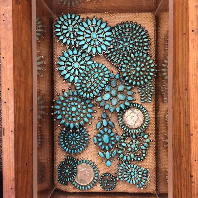 Have you ever peeked in our drawers? In the coming weeks we will be showcasing parts of the collection that aren't always on display. Let us know if anything catches your eye! #turquoise #vintage #simplysantafe #santafestyle #navajo #zuni