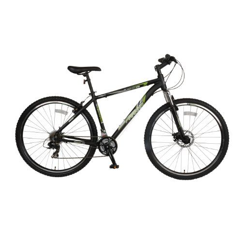 Piranha Arsenal 1.7 Hardtail Mountain Bike, 29 inch Wheels, 17 inch Frame, Men's Bike, Black/Green Reviews $ 297.57 Mountain Bikes Product Features Frame/Fork: 17 inch alloy frame with steel suspension fork Wheels/Tires: Aluminum rims with 29 x 1.95 inch mountain bike tires Drivetrain: 21 speed, Shimano Tourney TX rear derailleur and Shimano front derailleur, Shimano .. http://www.bicyclessale.com/piranha-arsenal-1-7-hardtail-mountain-bike-29-inch-wheels-17-inch-frame-..