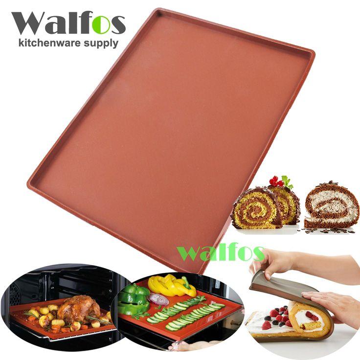 Walfos מחצלת אפיית מזון כיתה סיליקון diy משולב כרית עוגת רול שוויצרית pad בישול אפיית אניה שאינה מקל בתנור כלים