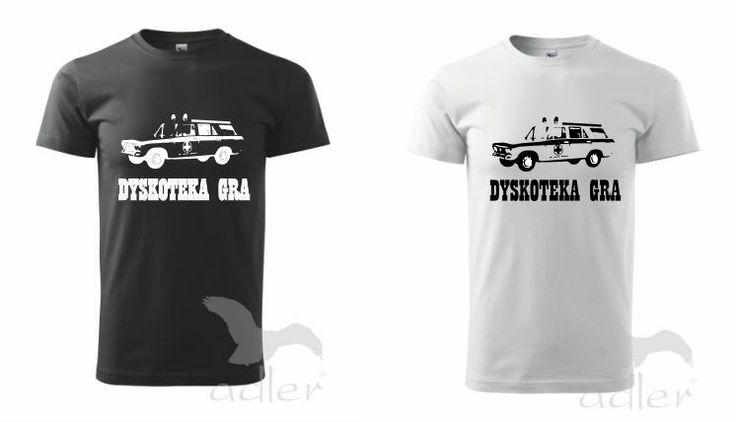 koszulka z nadrukiem - dyskoteka gra - emedlink.pl