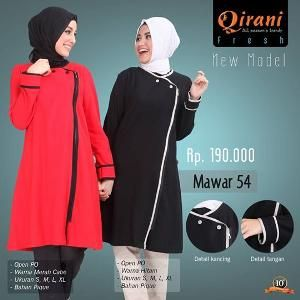 Baju Atasan Wanita Tunik Qirani Fresh Mawar 54