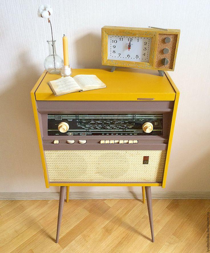 Купить Новый облик старой радиолы (декор старой мебели) - оранжевый, радио, комод, Мебель